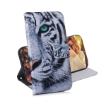 Tiger Pattern Coloured Drawing Horizontal Flip Leather Case for Galaxy M10 / A10, with Holder & Card Slots & Wallet