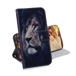 Lion Pattern Coloured Drawing Horizontal Flip Leather Case for Galaxy J6 Plus, with Holder & Card Slots & Wallet