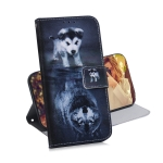 Wolf and Dog Pattern Coloured Drawing Horizontal Flip Leather Case for Galaxy J6 Plus, with Holder & Card Slots & Wallet