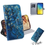 Apricot Flower Pattern Coloured Drawing Horizontal Flip Leather Case for Galaxy S10 E, with Holder & Card Slots & Wallet