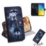 Wolf and Dog Pattern Coloured Drawing Horizontal Flip Leather Case for Galaxy S10 E, with Holder & Card Slots & Wallet