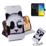 Panda Pattern Coloured Drawing Horizontal Flip Leather Case for Galaxy S10 E, with Holder & Card Slots & Wallet