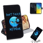 Anger Pattern Coloured Drawing Horizontal Flip Leather Case for Galaxy S10 E, with Holder & Card Slots & Wallet