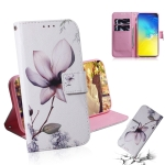 Magnolia Flower Pattern Coloured Drawing Horizontal Flip Leather Case for Galaxy S10 E, with Holder & Card Slots & Wallet