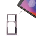 SIM Card Tray + SIM Card Tray / Micro SD Card for Lenovo K6 (Silver)
