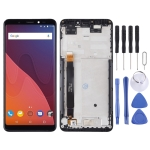 LCD Screen and Digitizer Full Assembly with Frame for Wiko View (Black)