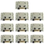 10 PCS Charging Port Connector for Galaxy M10 / M105F / A10 / A105F / A7 (2018) / A750F / A7500