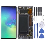 LCD Screen and Digitizer Full Assembly with Frame for Galaxy S10+ (Black)