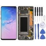 LCD Screen and Digitizer Full Assembly with Frame for Galaxy S10 (Black)