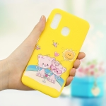 Frosted Pattern TPU Protective Case for Galaxy A40(Fovers Bear)