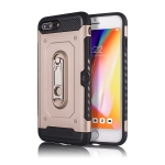 Shockproof PC + TPU Case for iPhone 6P / 6SP, with Holder(Rosegold)