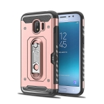 Shockproof PC + TPU Case for Galaxy J2 Pro (2018), with Holder(Rosegold 玫瑰金)