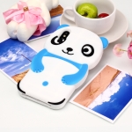 Cute Panda Patterned 3D Silicone Shell for iPhone X&XS(Blue)