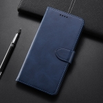 Calf Texture Horizontal Flip Leather Case for Xiaomi Mi Play, with Holder & Card Slots & Wallet(Blue)