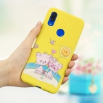 Frosted Pattern TPU Protective Case for Redmi 7(Lovers Bear)