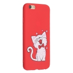 Frosted Pattern TPU Protective Case for iPhone 6G Plus/6S Plus(Cat)