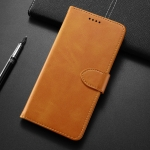 Calf Texture Horizontal Flip Leather Case for Nokia 7 Plus, with Holder & Card Slots & Wallet(Yellow)