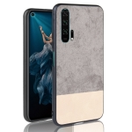 Shockproof Color Matching Denim PC + PU + TPU Protective Case for Huawei Honor 20 Pro(Gray)