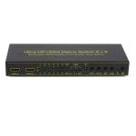 Ultra HD 4K*2K 6×2 HDMI Matrix with HIFI Stereo Sound Output SPDIF HDMI Switcher