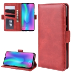 Wallet Stand Leather Cell Phone Case for Honor 10 Lite,with Wallet & Holder & Card Slots(Red)