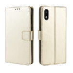Retro Crazy Horse Texture Horizontal Flip Leather Case for Galaxy A10e , with Holder & Card Slots & Photo Frame(Gold)