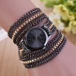 sloggi Women Circle Alloy Bracelet Quartz Watch(Black)