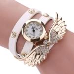 Large Wings Diamond Circle Bracelet Quartz Watch(WHITE)