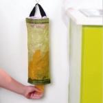 Home Grocery Bag Holder Wall Mount Storage Dispenser Plastic Kitchen Organizer(Yellow)