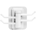 Home Creative Wall Pothook Rotary Wall Towel Rack without Screw(White)