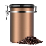 Coffee Container Stainless Steel Tea Storage Chests Black Kitchen Sotrage Canister Coffee Tea Caddies Teaware(Gold)