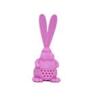 Tea Strainer Healthy Rabbit Shape Silicone Tea Infuser Reusable Tea Bag(Pink)