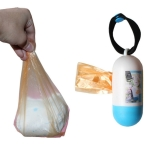 5 PCS Removable Box Nappy Bag Portable Baby Diapers Abandoned Bags Rubbish Bags Case pet Garbage Bag(Blue)
