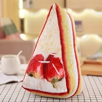 Snack Food Pillows Beer Fried Chicken Snack Pillow Plush Toy Doll Decorative Pillow(L Strawberry cake)