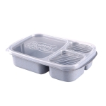 Square Three-Layer Thermal Box Lunch Box(Blue)