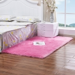Luxury Rectangle Square Soft Artificial Wool Sheepskin Fluffy Rug Fur Carpet, Size:60x60cm(Rose Red)