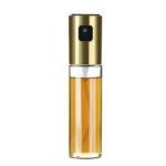 2 PCS Stainless Steel Glass Olive Pump Spray Bottle Oil Sauce Vinegar Bottle Oil Dispenser(Gold)