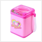 Mini Electric Washing Machine Pretend Play Children Furniture Toys(Pink)