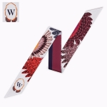 Letter Tarot Small Scarf for Women, Width: 6.2cm, Color:W