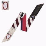 Letter Tarot Small Scarf for Women, Width: 6.2cm, Color:Y