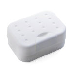 2 PCS Portable Travel Soap Box(White)