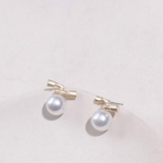 Gold Geometric Irregular Natural Freshwater Pearl Stud Earrings(Double-Headed Earrings)