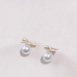 Gold Geometric Irregular Natural Freshwater Pearl Stud Earrings(Double-Headed Earrings)