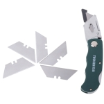 Stainless Steel Folding Utility Knife Woodworking Outdoor Camping Cutter(Aluminum alloy)