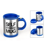 400ml Mugs Automatic Electric Self Stirring Mug Cup Coffee Milk Mixing Mug Smart Stainless Steel Juice Mix Cup Drinkware(Deep Blue)