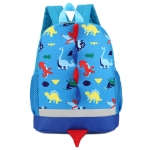 Backpack Cute Cartoon Dinosaur School Bags for Children(Blue)