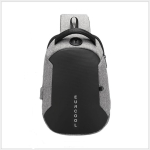 Multi Function Crossbody Bags Men Chest Bag Water Repellent Shoulder Bag with USB Charging Port L(Gray)