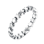 Star Shape Women 925 Sterling Silver Jewelry, Ring Size:6