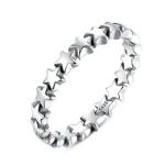 Star Shape Women 925 Sterling Silver Jewelry, Ring Size:6