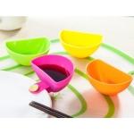 5 PCS Saucers Assorted Salad Sauce Ketchup Jam Dip Clip Cup Bowl Tomato Salt Vinegar Sugar Plate(Multi color )