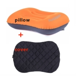 Inflatable Outdoor Camping Pillow Ultralight Travel Pillows With Pocket Portable Inflation Cushion(orange )